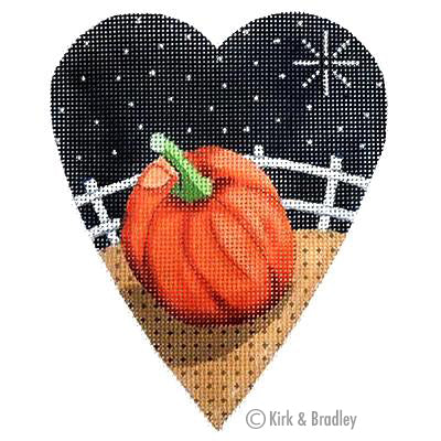 KB 066 - Midnight Pumpkin Heart