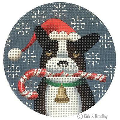 KB 067 - French Bulldog Xmas Circle