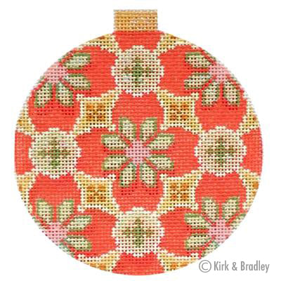 KB 1155 - Florentine Bauble - Sage/Red