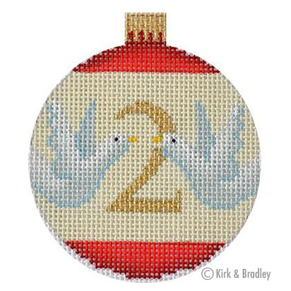 KB 1179 - 12 Days Bauble-  2 Turtle Doves