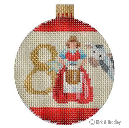 KB 1185 - 12 Days Bauble - 8 Maids
