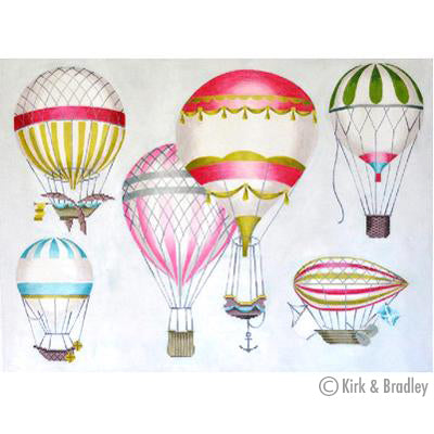 KB 1268 - Hot Air Balloons - Multi-Pink