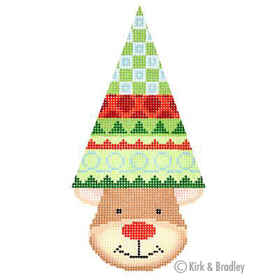 KB 1382 - Reindeer Cone - Joy (Swirls)