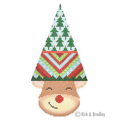 KB 1385 - Reindeer Cone - Rudy (Stripes)