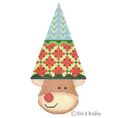 KB 1386 - Reindeer Cone - Holly (Triangles)