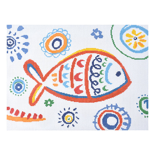 KB 1400 Tropical Fish - Red Swirls
