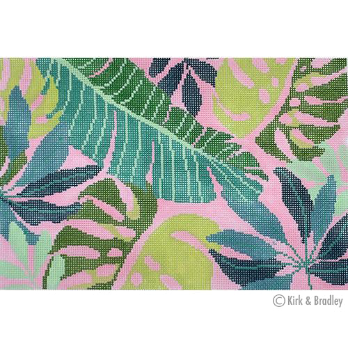 KB 1403 - Tropical Leaves Clutch - Pink