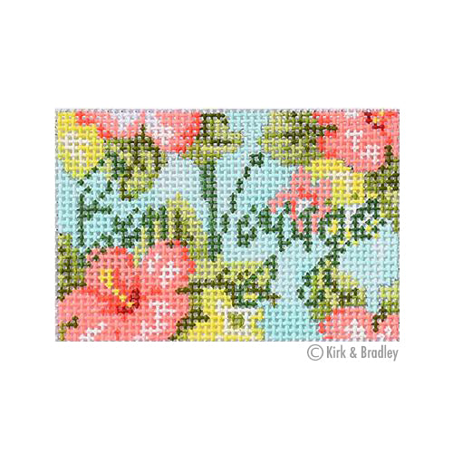 KB 1450 - Luggage Tag - Bon Voyage Floral