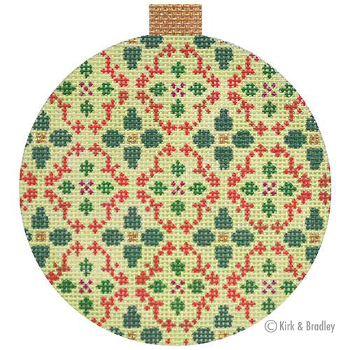 KB 1470  - Florentine Bauble - Red/Green