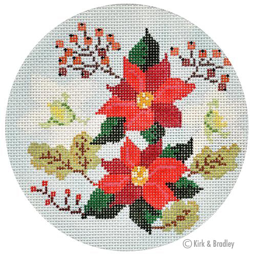 KB 1479  - Winter Floral Round