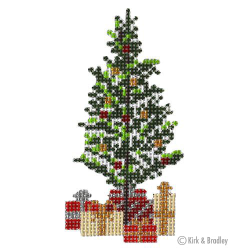 KB 1494 - Retro Ski - Christmas Pine Tree