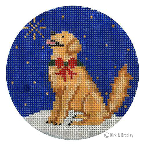 KB 1509 - Midnight Golden Retriever Round