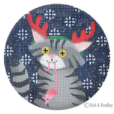 KB 169 - Tabby Cat Xmas Circle