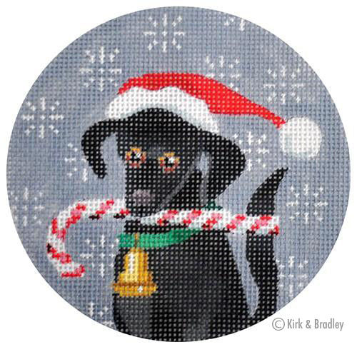 KB 246 - Black Labrador Xmas Circle