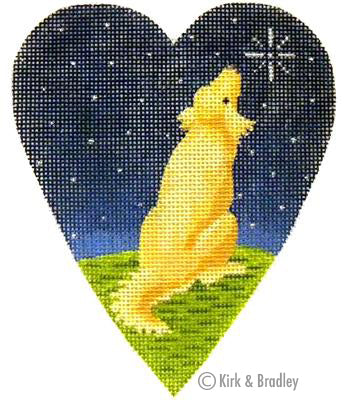 KB 262 - Midnight Golden Retriever Heart