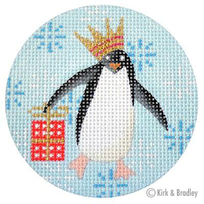 KB 313 - Penguin Xmas Circle Red