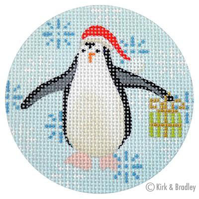 KB 314 - Penguin Xmas Circle Lime
