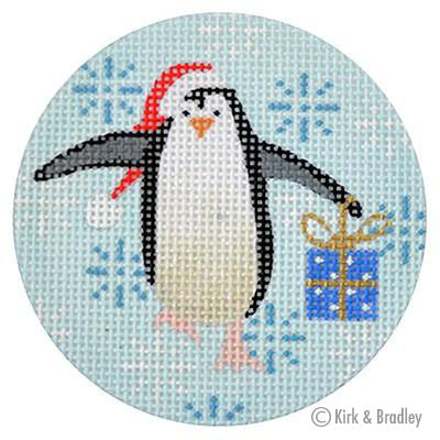 KB 315 - Penguin Xmas Circle Blue