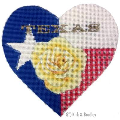 KB 363 - Texas Rose Heart