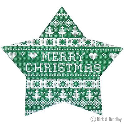 KB 464 - Green Nordic Star Merry Christmas