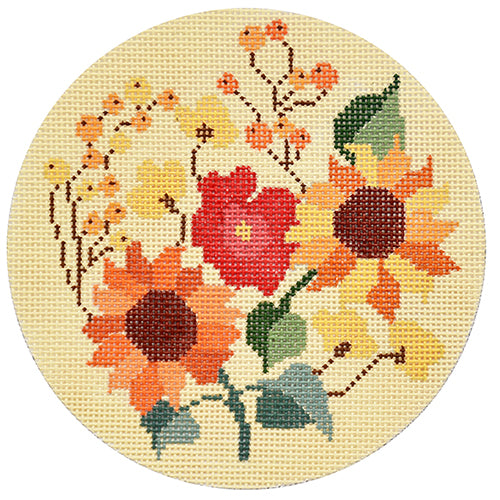 KB 1482  - Autumn Floral Round