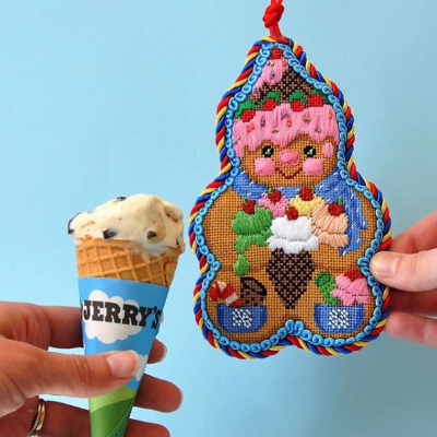 BB 0074 - Gingerbread Man Ice Cream Cone Hat