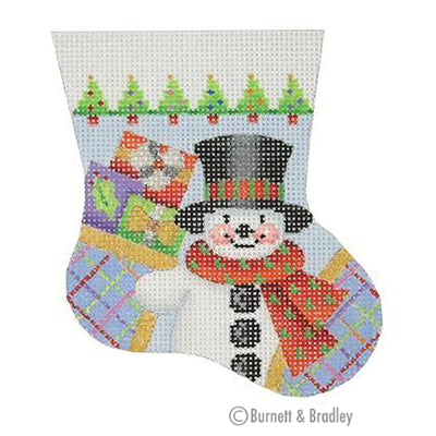 BB 0100 - Snowman Mini Stocking