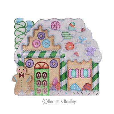 BB 0122 - Gingerbread House - Ribbon Candy Chimney