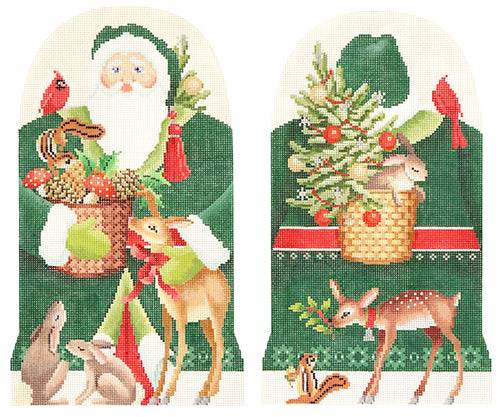 KB 1374 - Two-Sided Forest Friends Father Christmas