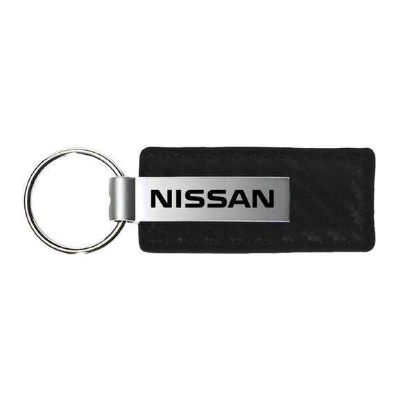Nissan Keychain & Keyring - Carbon Fiber Texture Leather