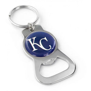 Kansas City Royals MLB Keychain & Keyring - Bottle Opener - Silver