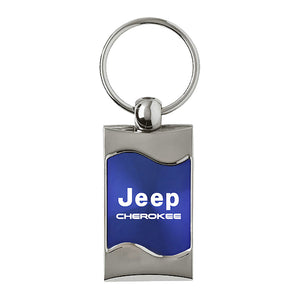 Jeep Cherokee Keychain & Keyring - Blue Wave