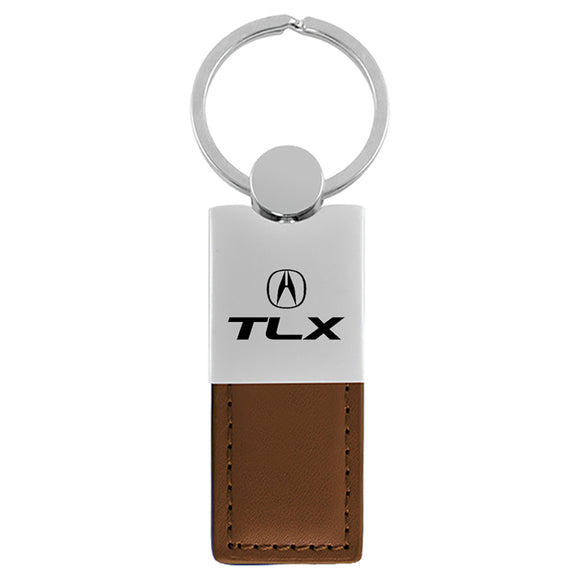 Acura TLX Keychain & Keyring - Duo Premium Brown Leather