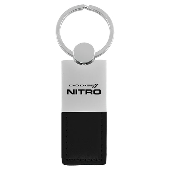 Dodge Nitro Keychain & Keyring - Duo Premium Black Leather