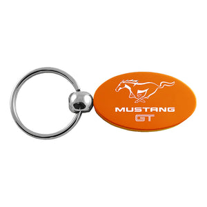Ford Mustang GT Keychain & Keyring - Orange Oval