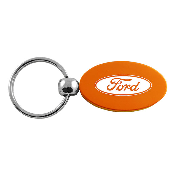 Ford Keychain & Keyring - Orange Oval