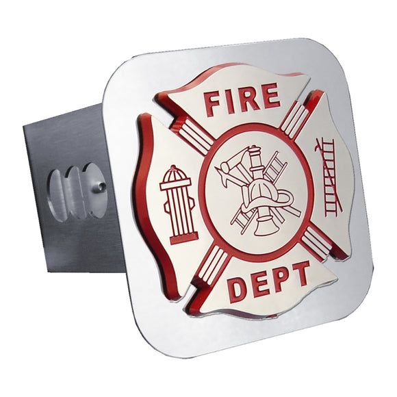 Fire Department Chrome Trailer Hitch Plug