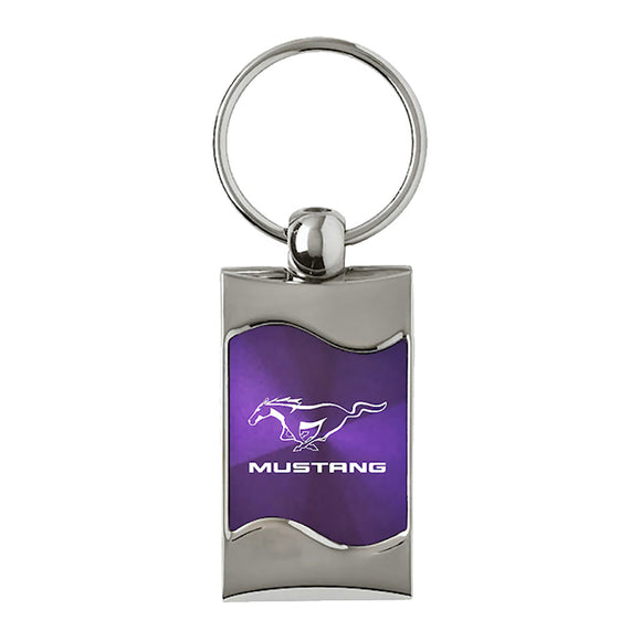 Ford Mustang Keychain & Keyring - Purple Wave