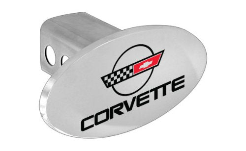 Chevy Metal Trailer Hitch Cover Plug, C4 Corvette Design Hitch Cover