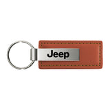 Jeep Keychain & Keyring - Brown Premium Leather