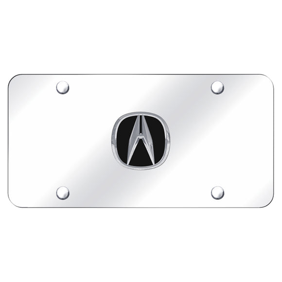 Acura Chrome Logo on Chrome Plate