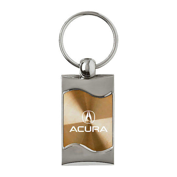 Acura Keychain & Keyring - Gold Wave