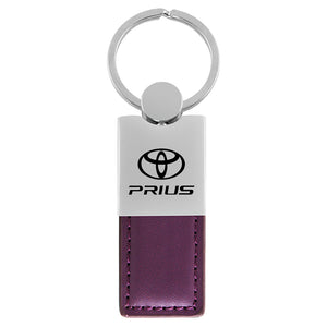 Toyota Prius Keychain & Keyring - Duo Premium Purple Leather