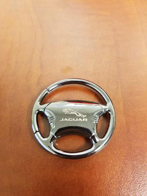 Jaguar Keychain & Keyring - Black Steering Wheel
