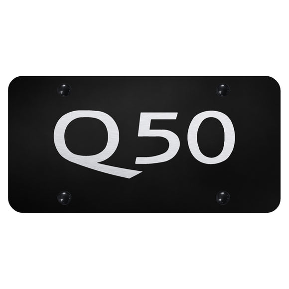 Infiniti Q50 Name Laser Etched Black Plate