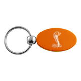 Ford Mustang Shelby Cobra Keychain & Keyring - Orange Oval