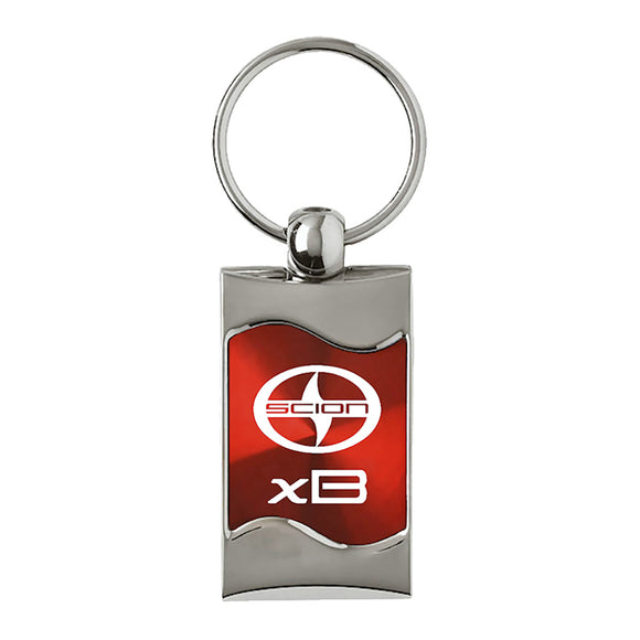 Scion xB Keychain & Keyring - Red Wave