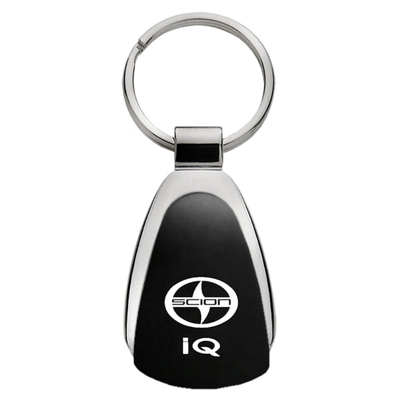 Scion iQ Keychain & Keyring - Black Teardrop