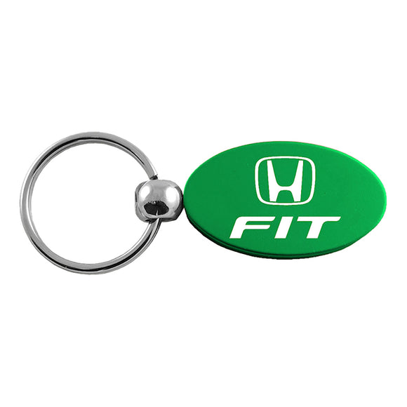 Honda Fit Keychain & Keyring - Green Oval