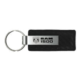 Dodge RAM 1500 Keychain & Keyring - Carbon Fiber Texture Leather
